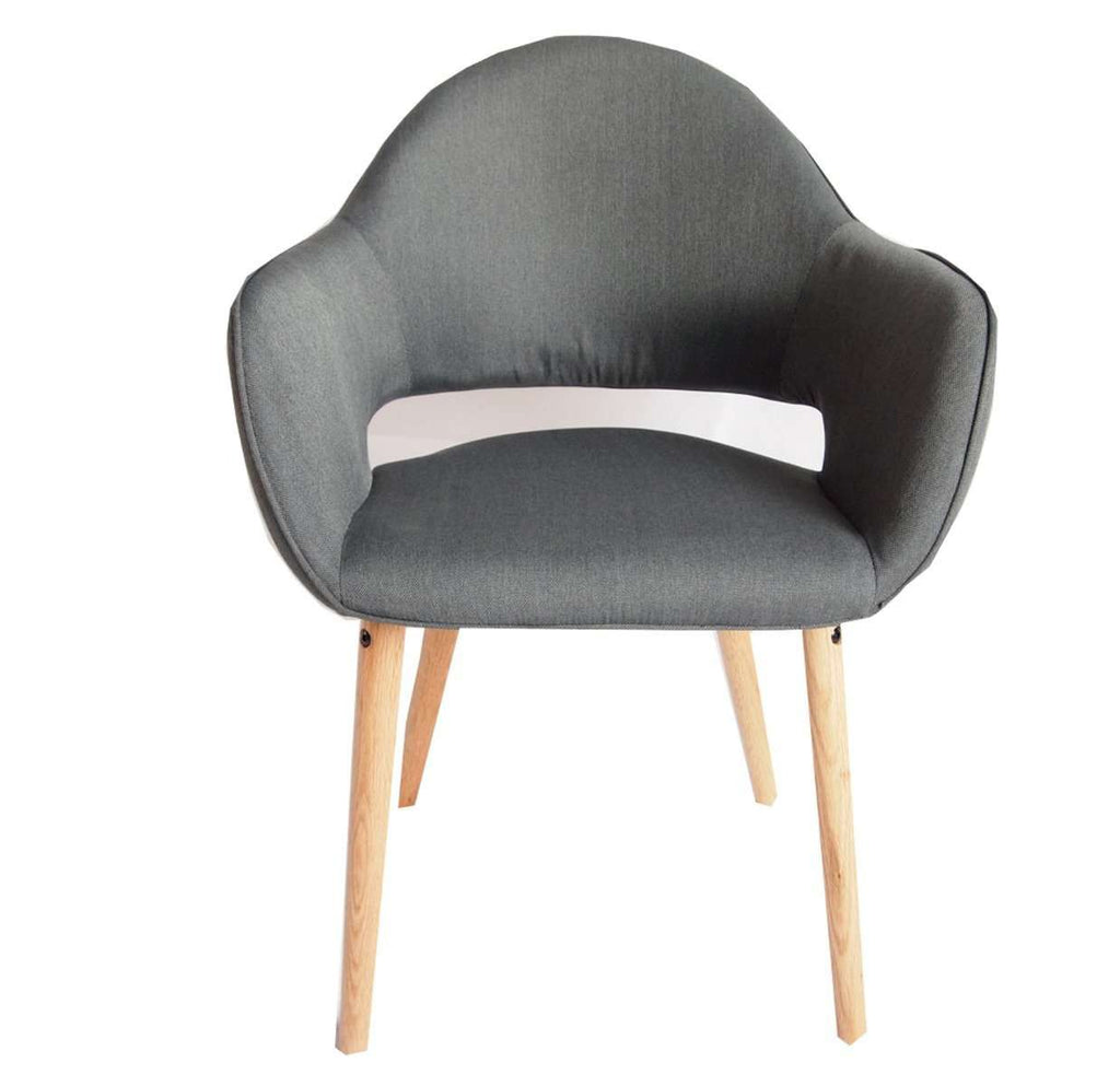 Atlas Charcoal Fabric Chair Set of 2