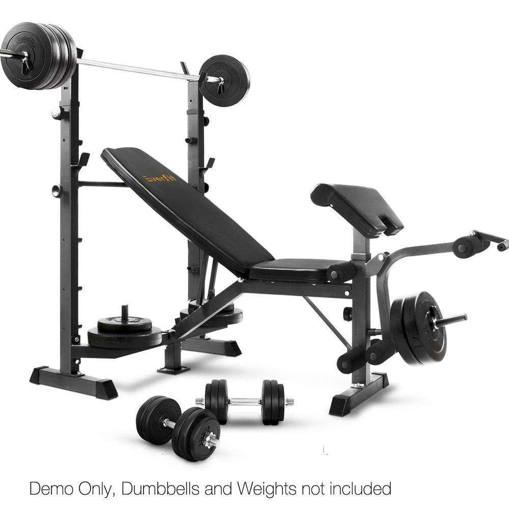 Multi-functional Fitness Bench Black - Desirable Home Living
