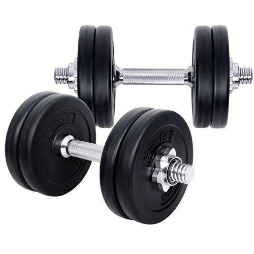 15kg Fitness Gym Exercise Dumbbell Set - Desirable Home Living