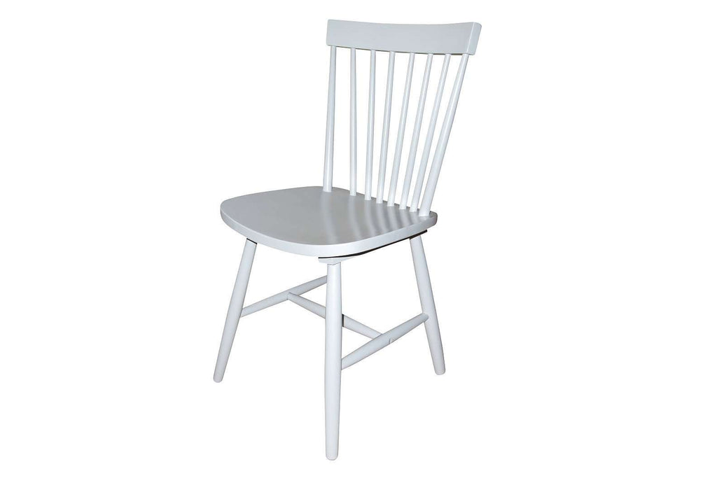 Simple Living Ari Rubberwood Grey Set of 2 Dining Chairs - Desirable Home Living