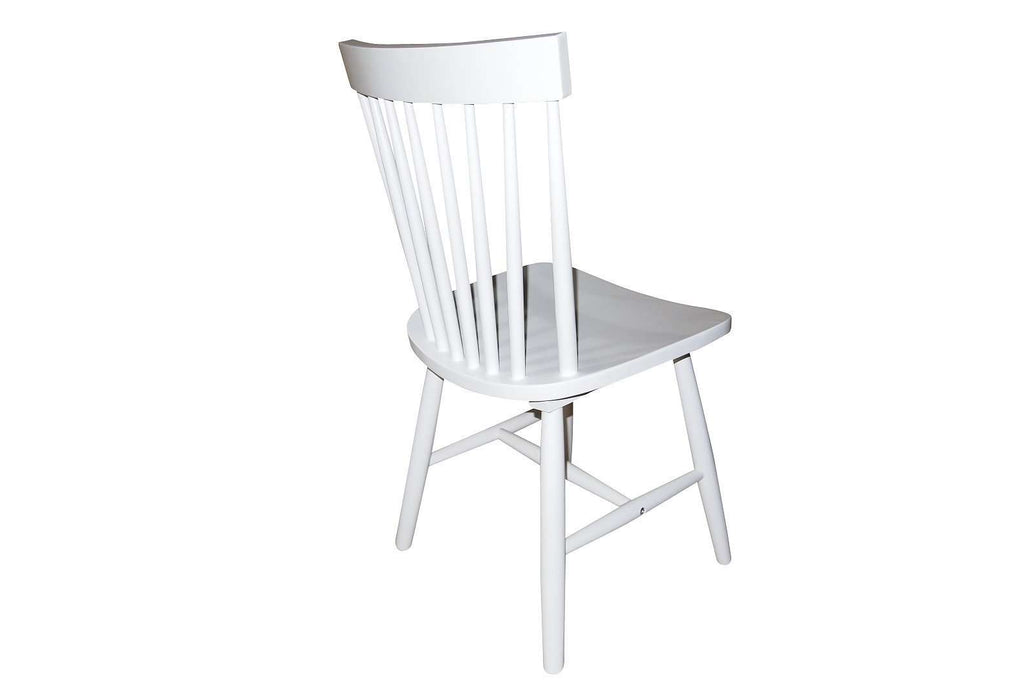 Simple Living Ari Rubberwood White Set of 2 Dining Chairs - Desirable Home Living