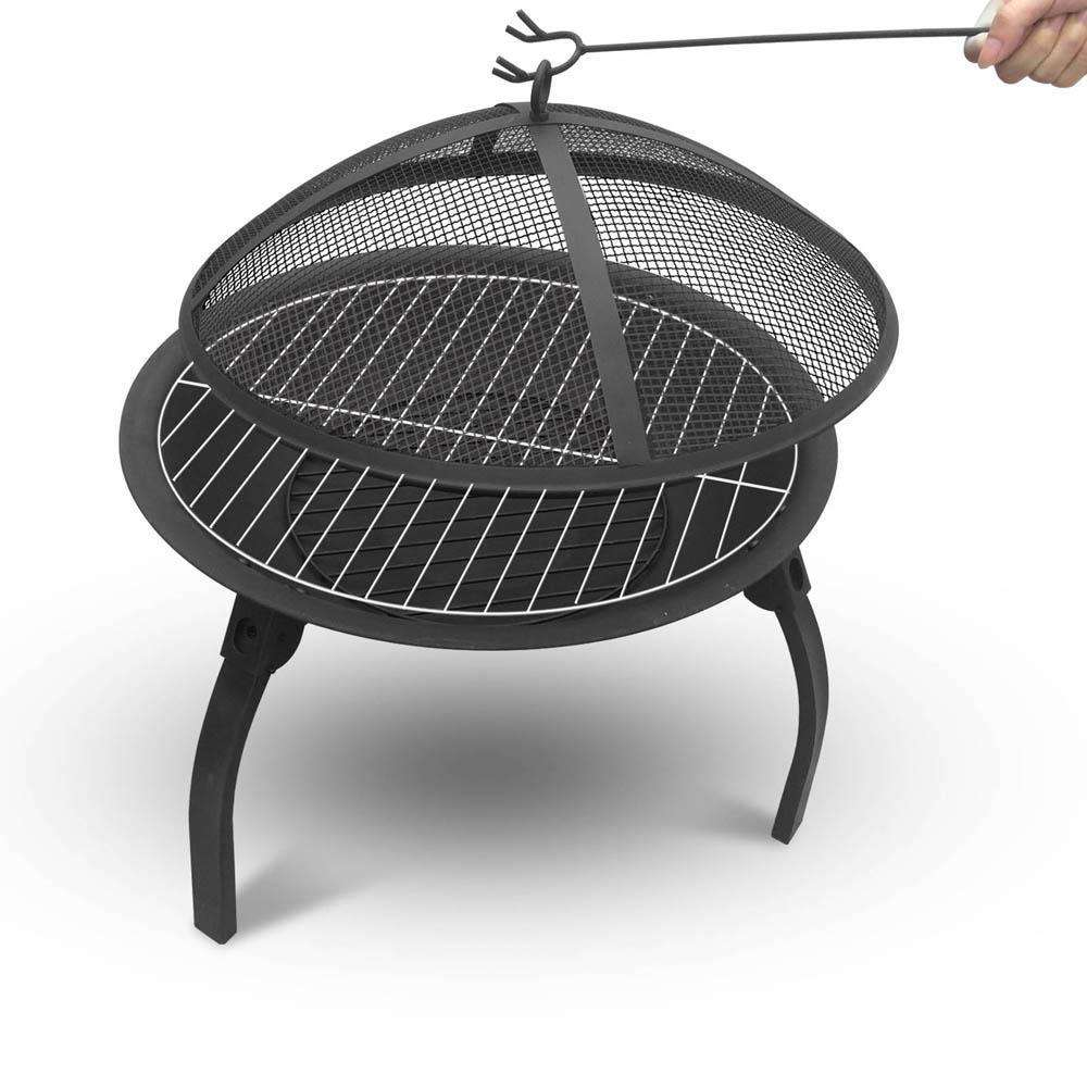 Portable Foldable Outdoor Fire Pit Fireplace 22 Inch - Desirable Home Living