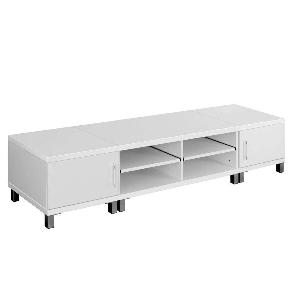TV Stand Entertainment Unit Lowline Cabinet Drawer White