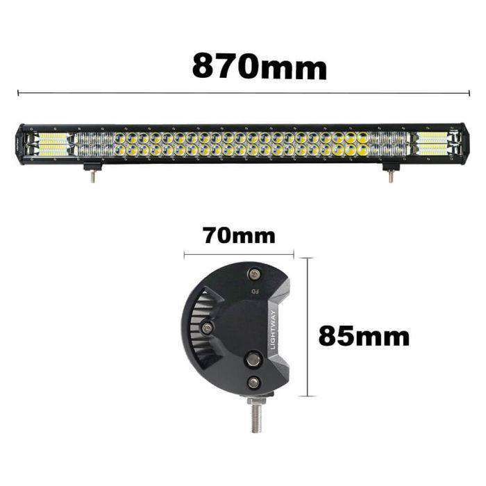 34INCH 666W OSRAM PHILIPS LED LIGHT BAR 5D