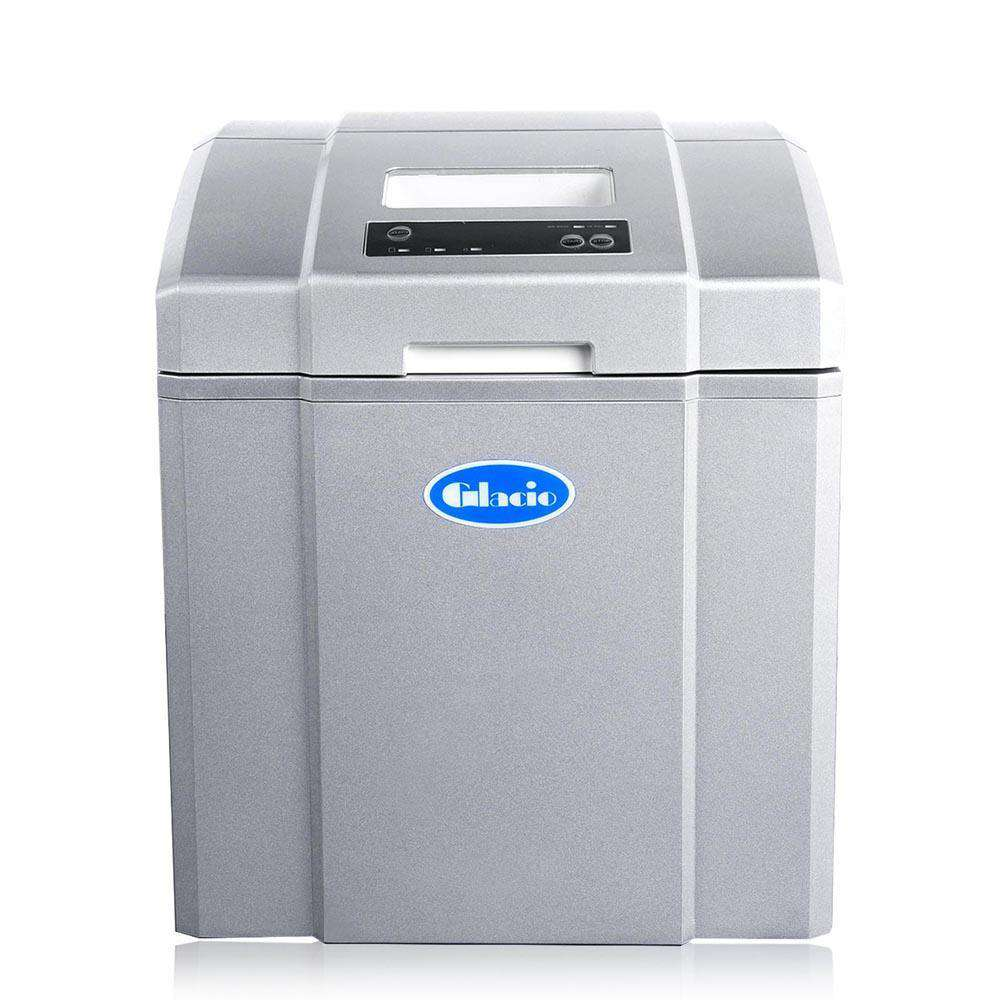 Portable Ice Cube Maker Machine Silver 3.2L - Desirable Home Living