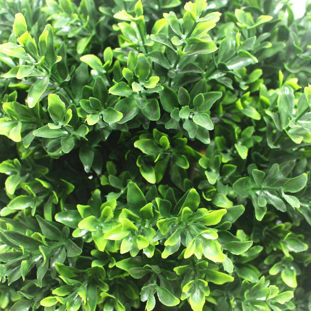 UV Resistant Artificial Topiary Shrub (Hedyotis) 70cm Mixed Green - Desirable Home Living
