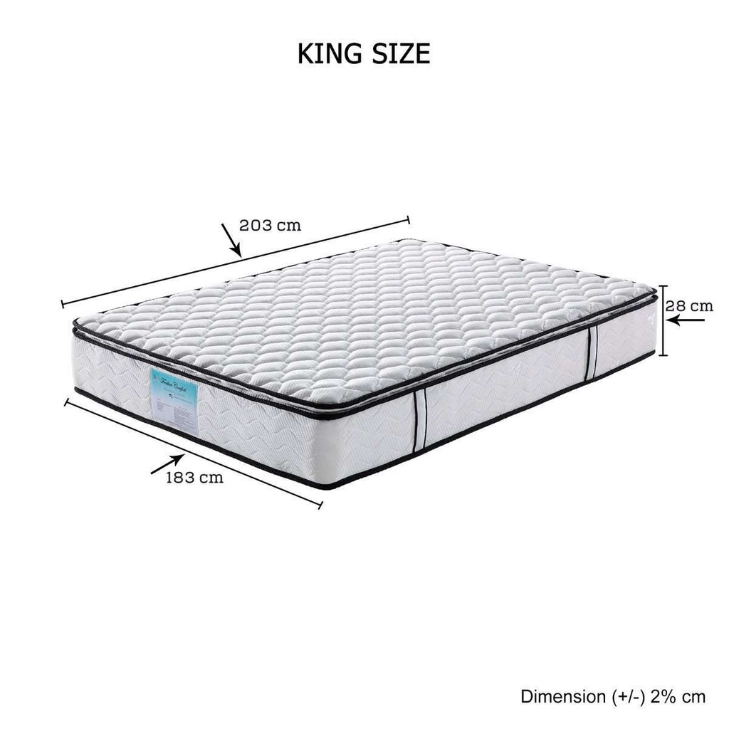 Memory Pillowtop Mattress King - Desirable Home Living