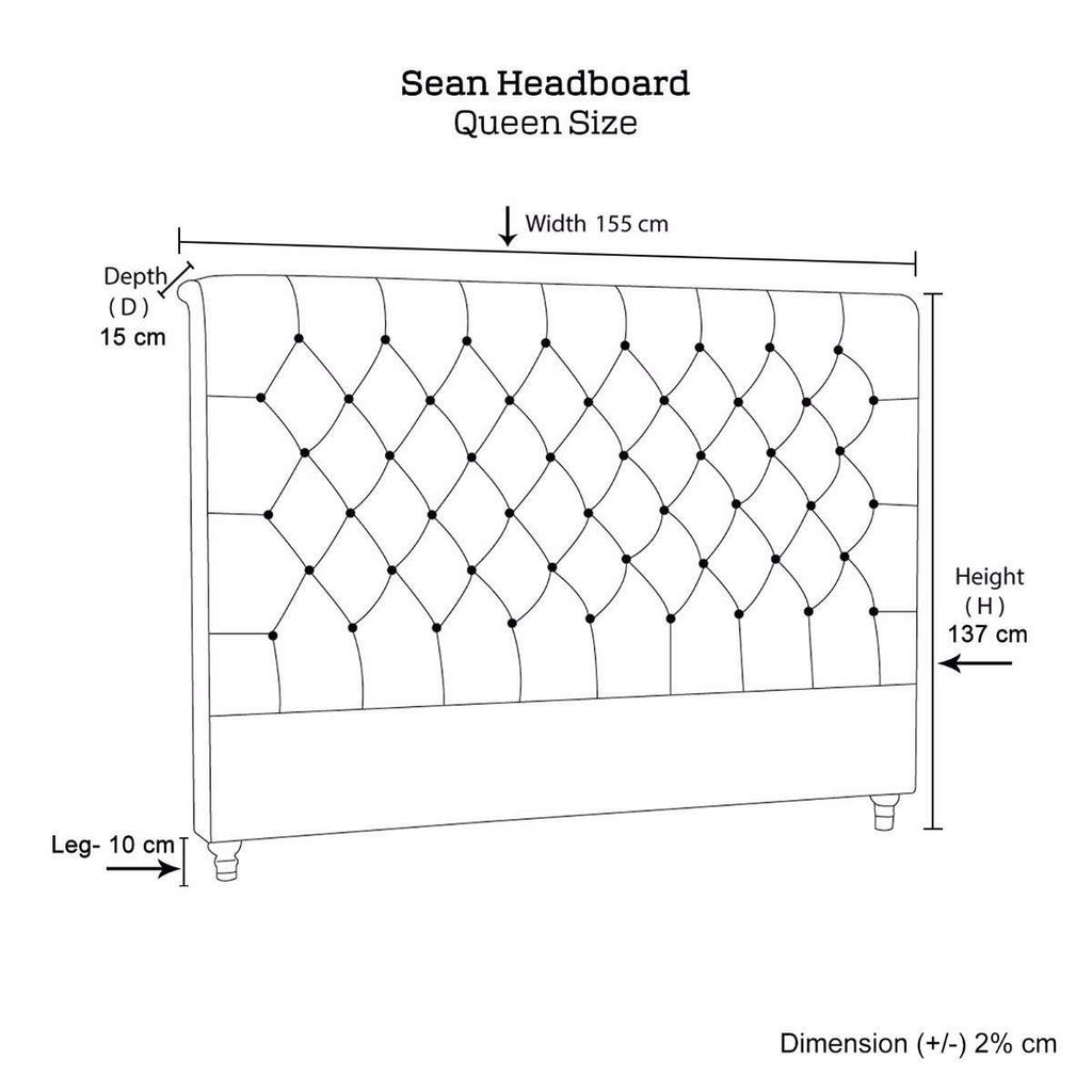Sean Headboard Queen Size - Desirable Home Living