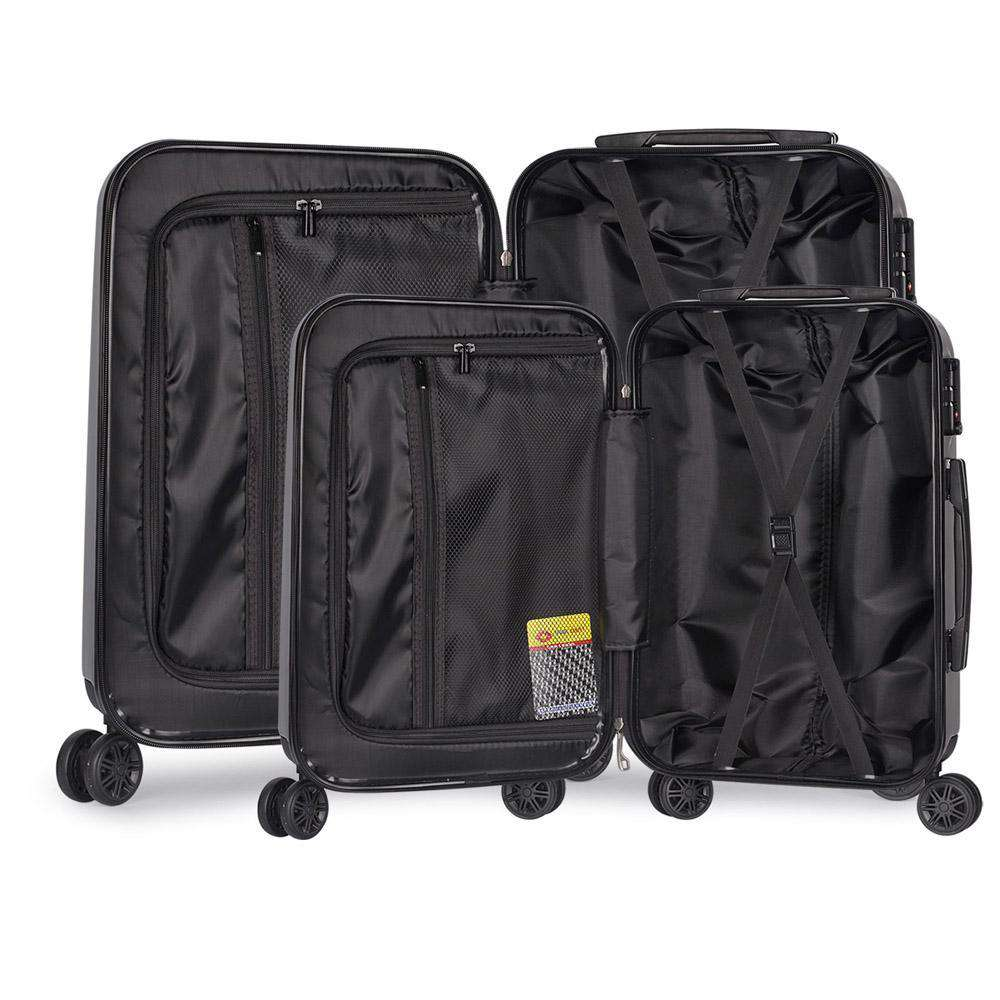 Set of 2 Premium Hard Shell Travel Luggage with TSA Lock - Grey - Desirable Home Living