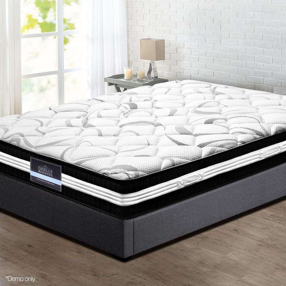 30CM Medium Firm Pocket Spring Mattress - Single - Desirable Home Living