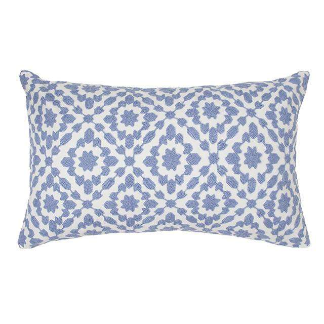 Menara Blue Breakfast Cushion by Bambury