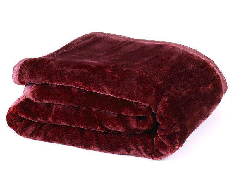 800GSM Heavy Double-Sided Faux Mink Blanket - RED