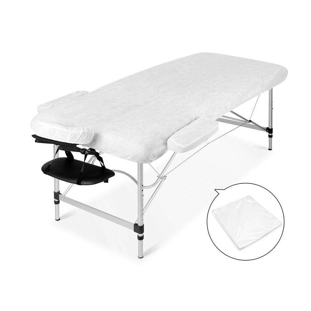 Portable Aluminium 3 Fold Massage Table Chair Bed Black 60cm - Desirable Home Living