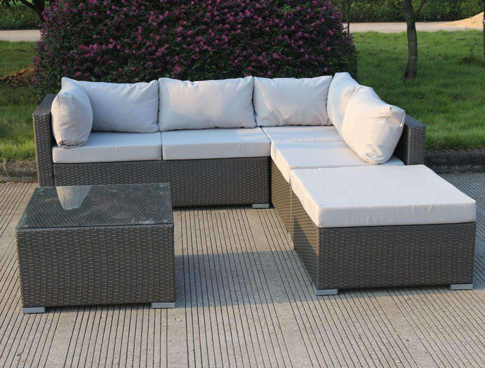 Levanzo Super Modular With Chaise and Table - Desirable Home Living