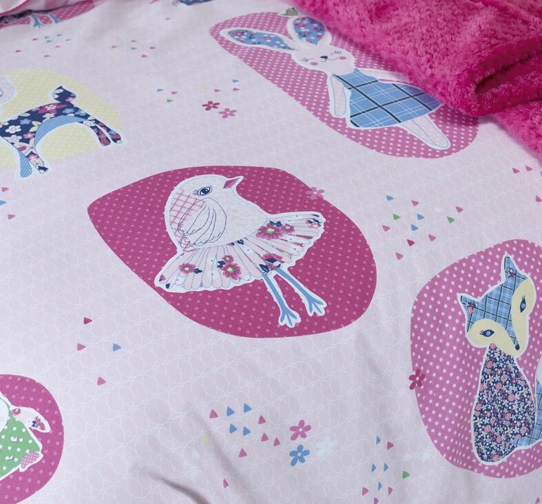Jiggle & Giggle Kids Forest Friends Quilt Cover Single Set