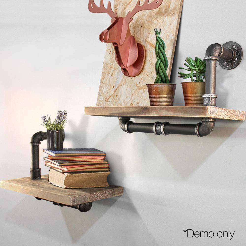Rustic Industrial DIY Floating Pipe Shelf - Desirable Home Living
