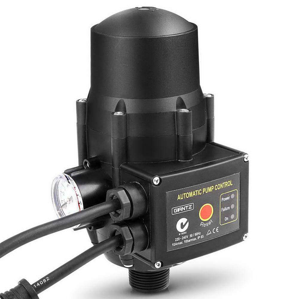Giantz Adjustable Automatic Electronic Water Pump Controller - Black