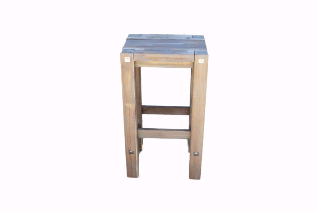 Sturdy Stool Grey - Desirable Home Living