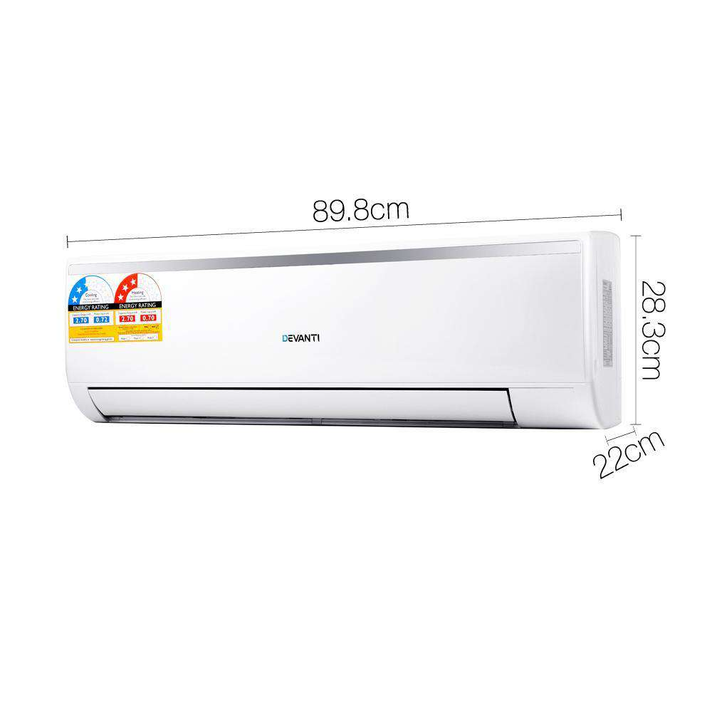 2.7KW Multifunctional Air Conditioner Heater Fan White - Desirable Home Living