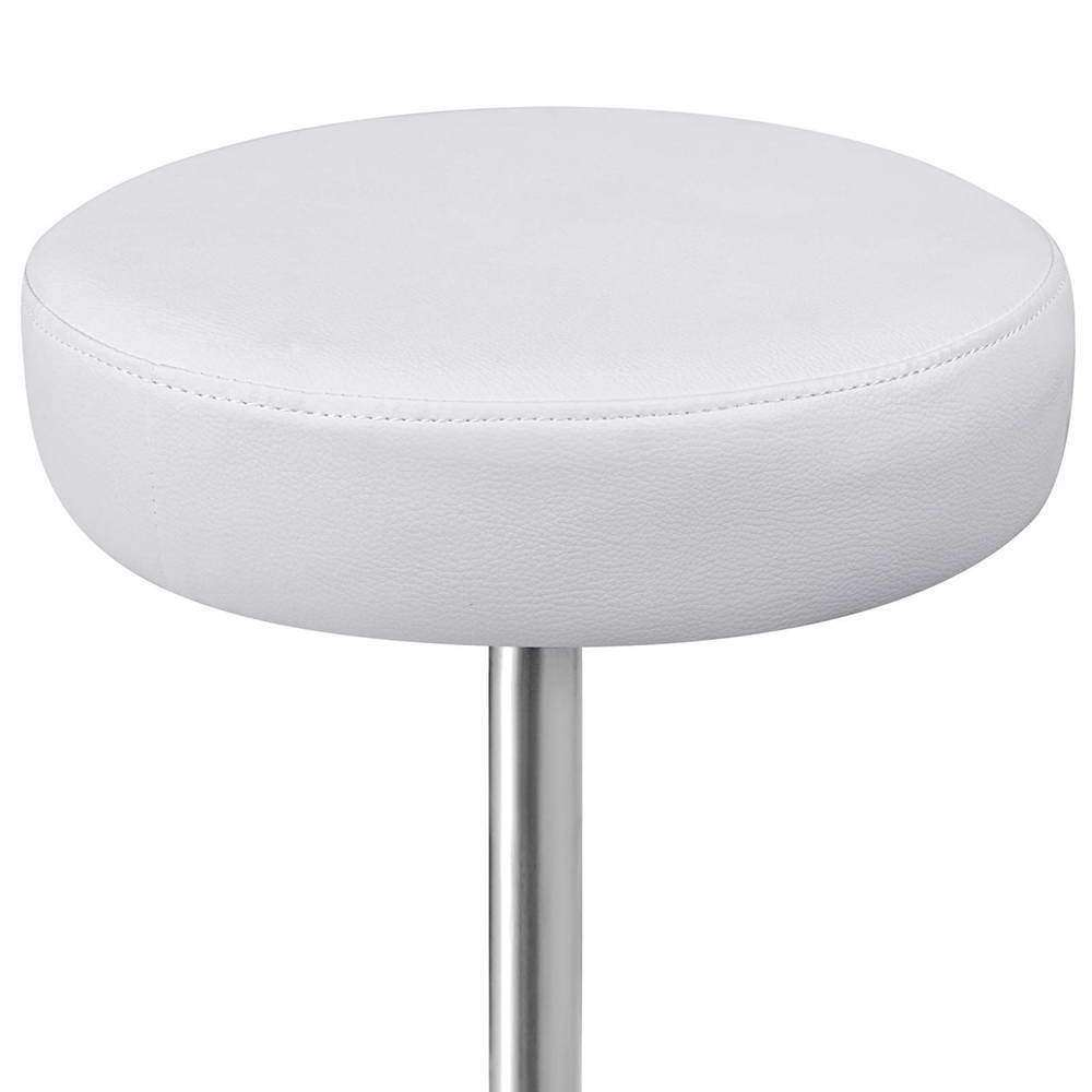 Round PU Swivel Salon Stool White - Desirable Home Living
