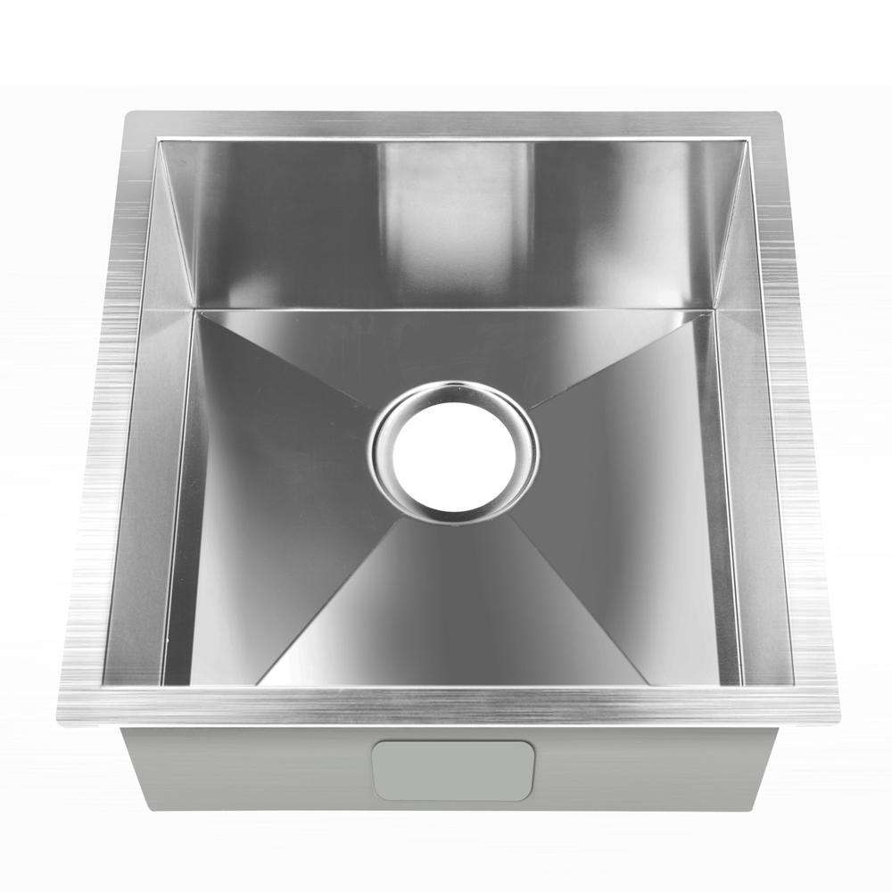 Stainless Steel Kitchen/Laundry Sink w/ Strainer Waste 510 x 450 mm - Desirable Home Living