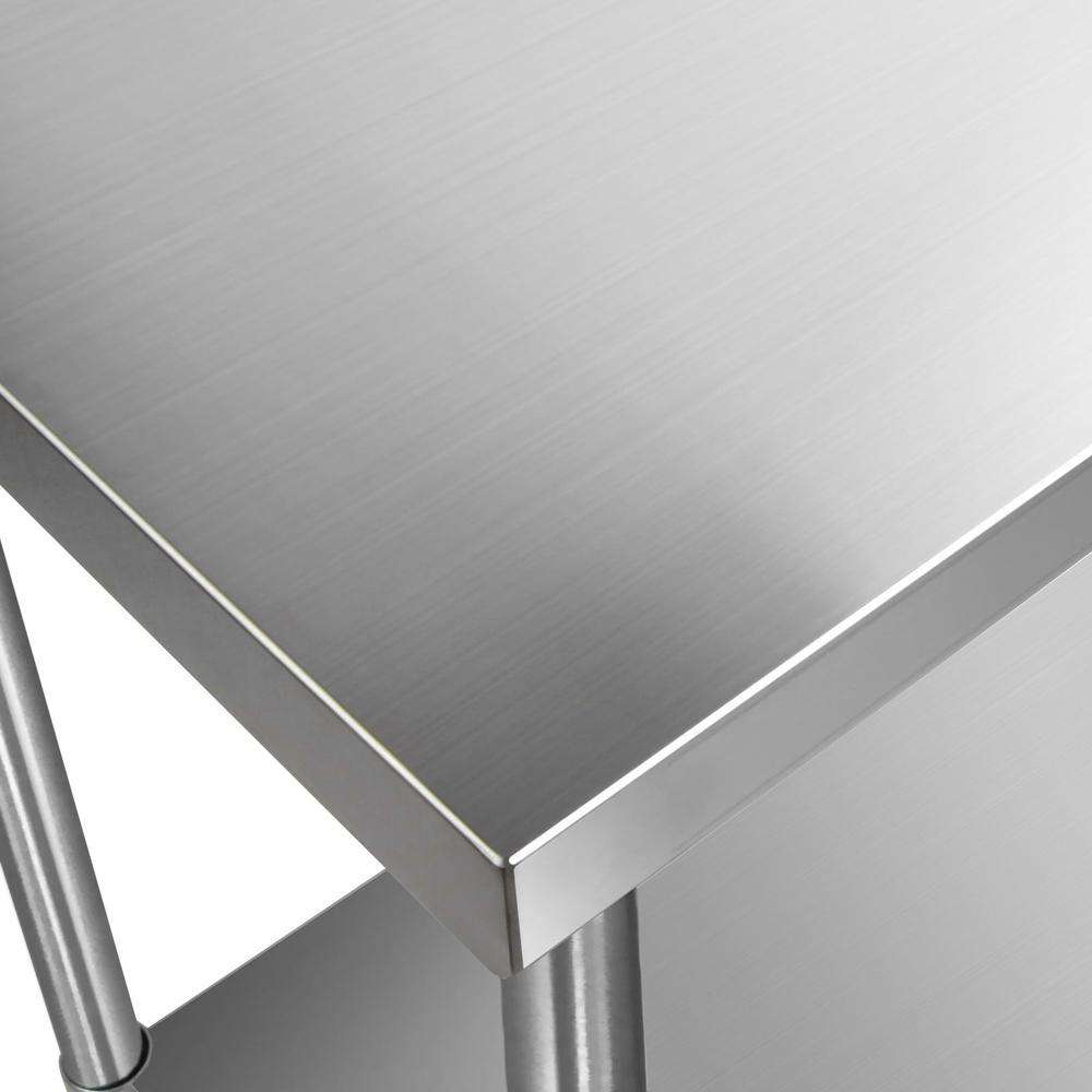304 Stainless Steel Kitchen Work Bench Table 1829mm - Desirable Home Living