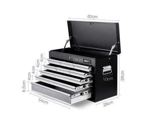 Giantz 9 Drawer Mechanic Tool Box Storage - Black & Grey
