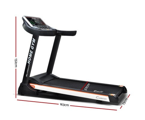 Everfit Electric Treadmill 45cm Incline Running Home Gym Fitness Machine Black