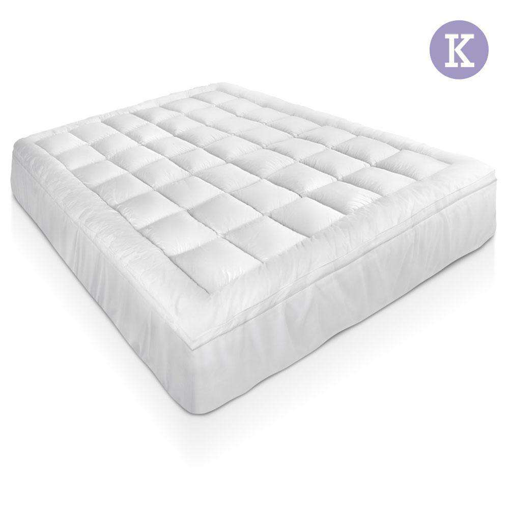 Bamboo Pillowtop Mattress Topper 5cm - King