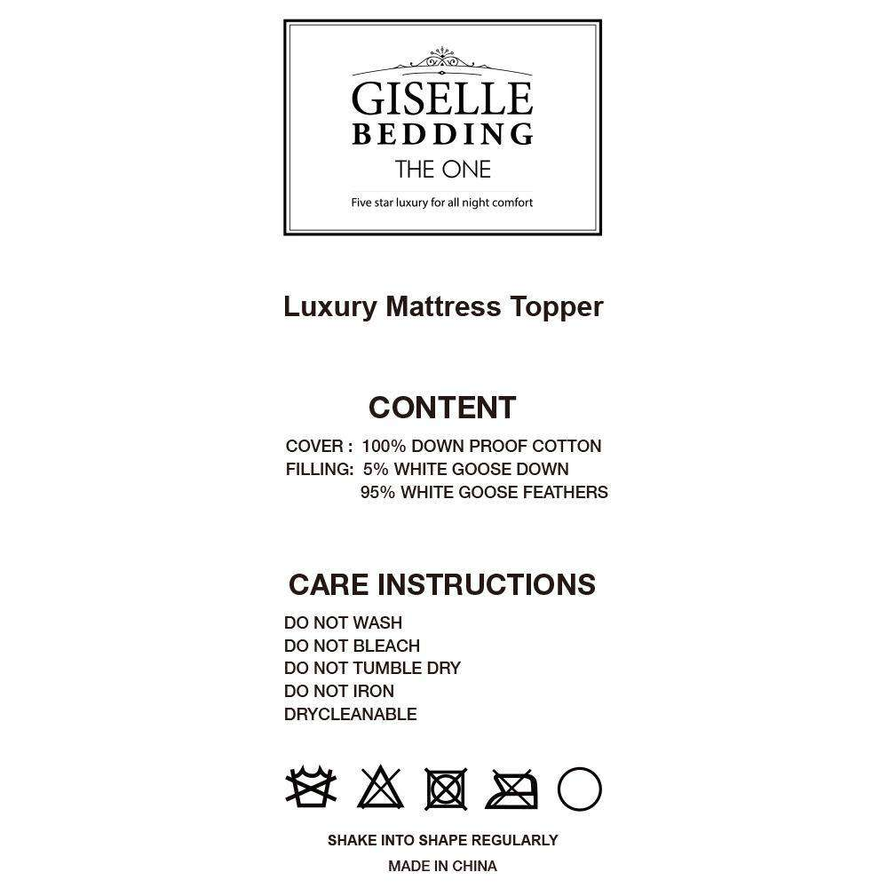 Giselle Bedding Double Size Mattress Topper