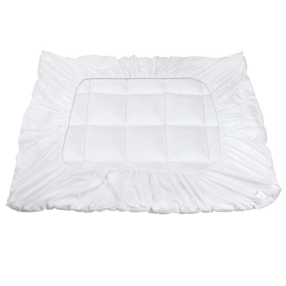 Pillowtop Mattress Topper Memory Resistant Protector Pad Cover Double - Desirable Home Living