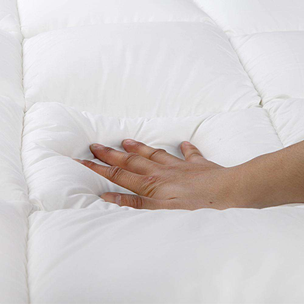 Pillowtop Mattress Topper Memory Resistant Protector Pad Cover King - Desirable Home Living