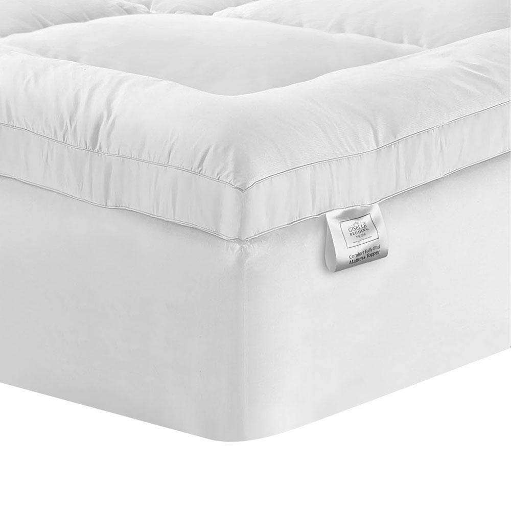 Pillowtop Mattress Topper Memory Resistant Protector Pad Cover Single - Desirable Home Living