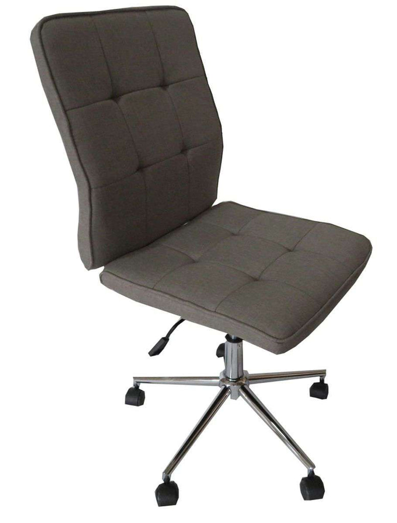 Oslo dark grey fabric gas lift office chai