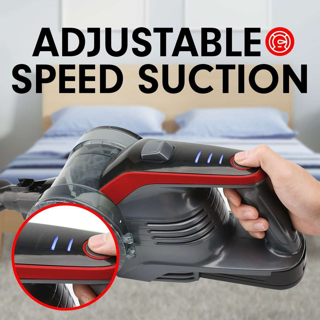 150W Handheld Vacuum Stick Cleaner Hand Battery Cordless - RED