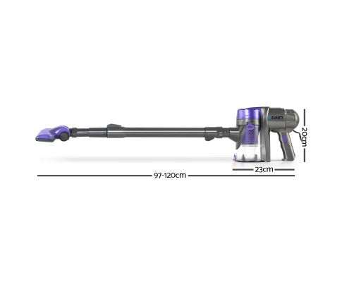 Devanti Corded Handheld Bagless Vacuum Cleaner - Purple and Grey
