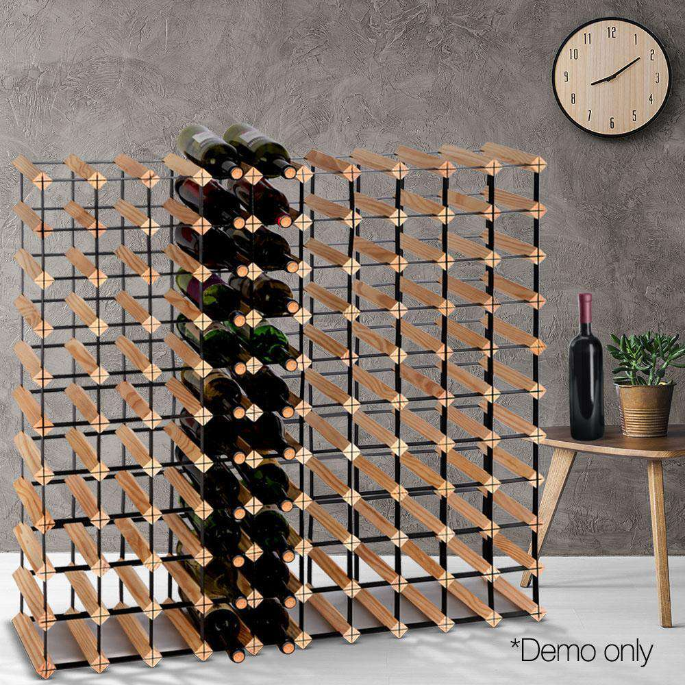 Timber Wine Rack 110 Bottles - Desirable Home Living