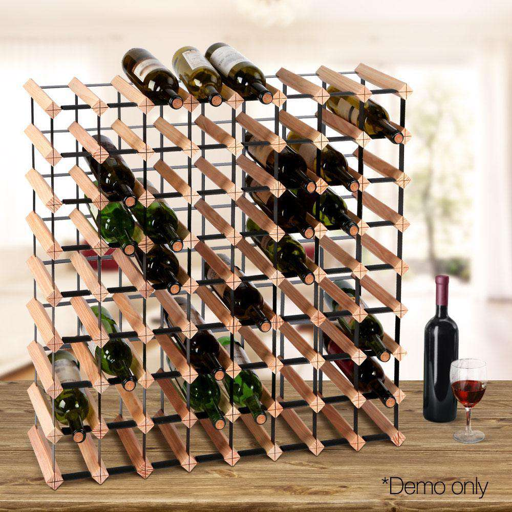 Timber Wine Rack 72 Bottles - Desirable Home Living
