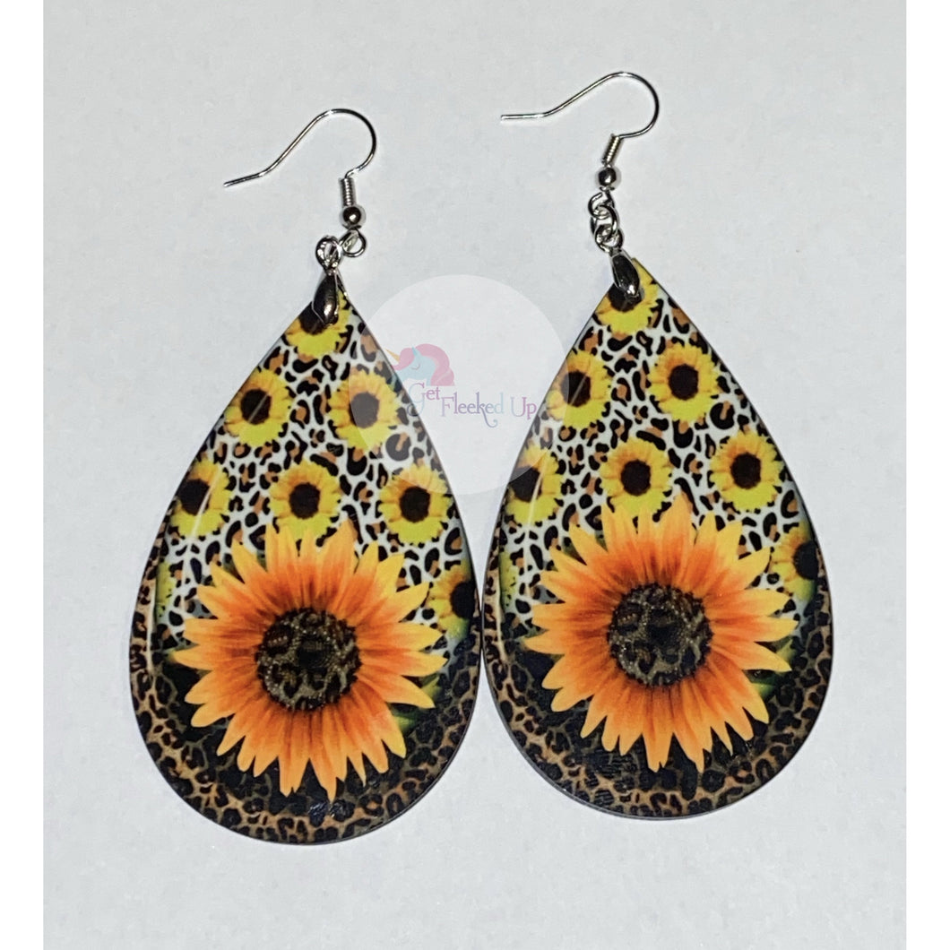 Sunflower Tear Drop Earrings - Get Fleeked Up