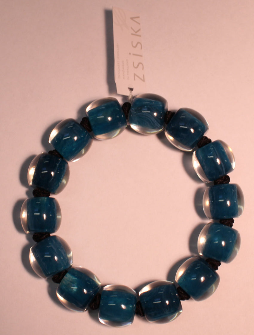 40103109197Q14 Colourful Beads Blue 9197 L
