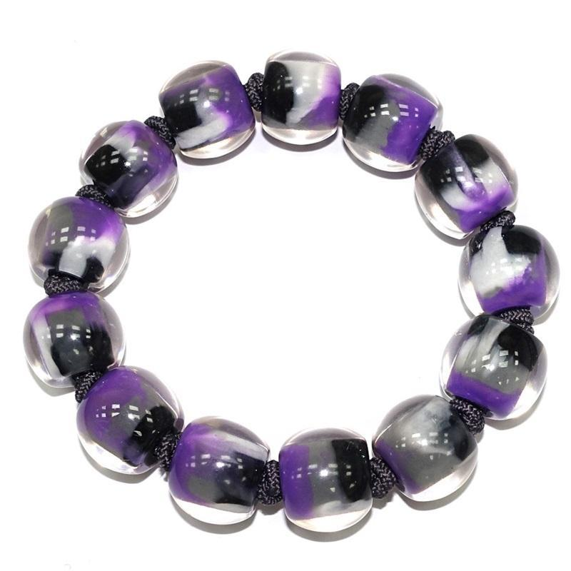 4010310MP13Q13 Colourful Beads Purple gray Marble MP13 M #