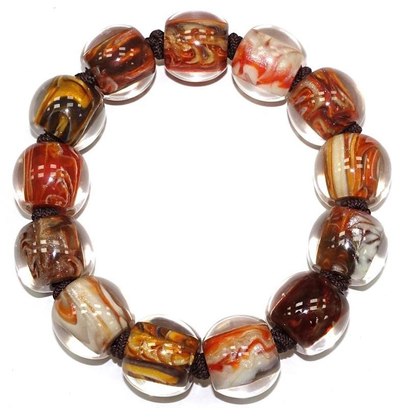 4010310MP15Q13 Colourful Beads Orange Marble MP15 M #