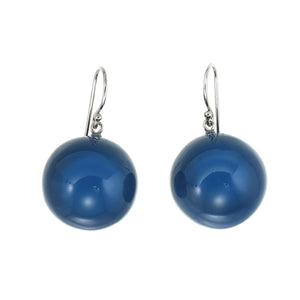 1190503NBLUQ00 earring BOLAS 1bead pin, blue