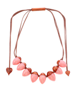 1260102CPINQ08 Heritage Necklace 102 Cooper Pink Q08
