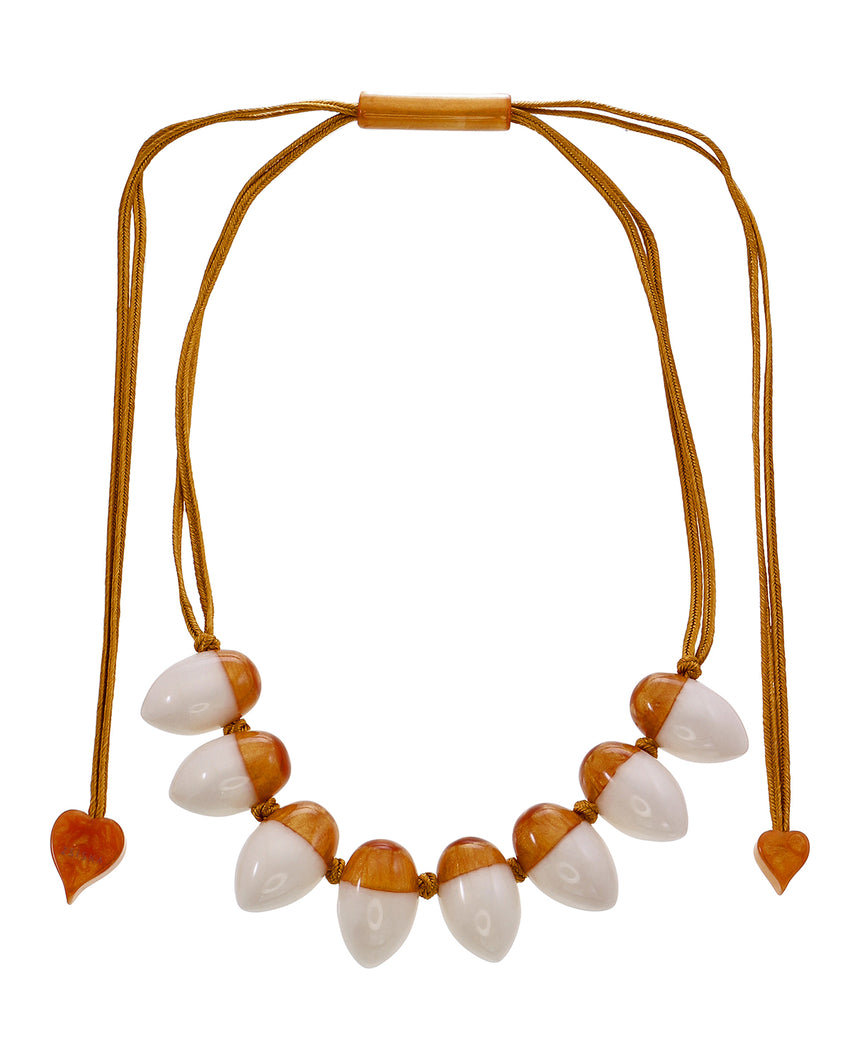 1260102GWHIQ08 Heritage Necklace 102 Gold White Q08