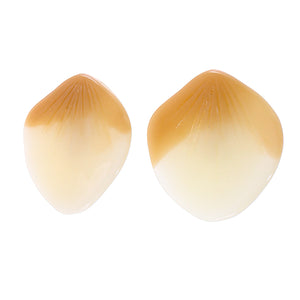 1330503BEIGQ00 earring BLOOM 1bead pin, beige