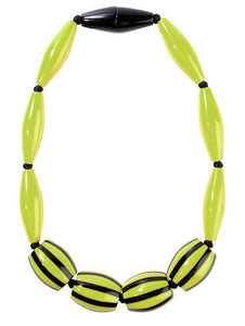 4200102BGREQ11 Necklace BAIADERA light green/blk