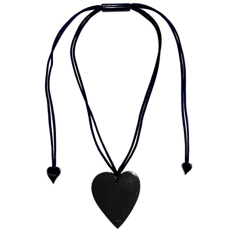 50602039010Q00 Heart Large Black 9010 (Adj Cord)