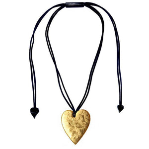 5060203G000Q00 Heart Large Gold G000 (Adj Cord)