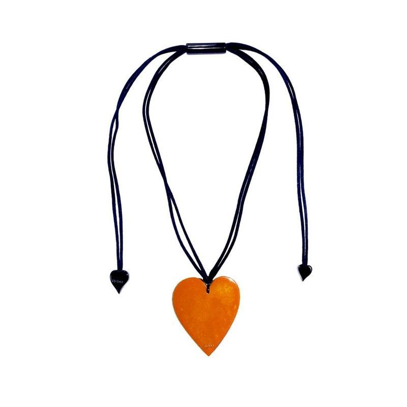 50602049016Q00 Heart Small Orange 9016 (Adj Cord)